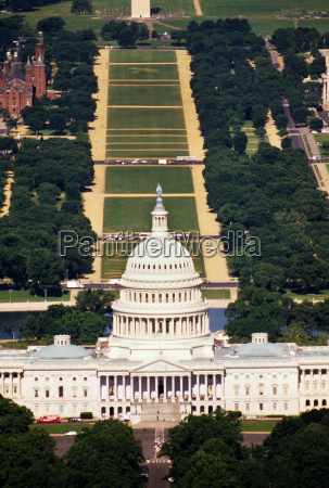 aerial view of a government building