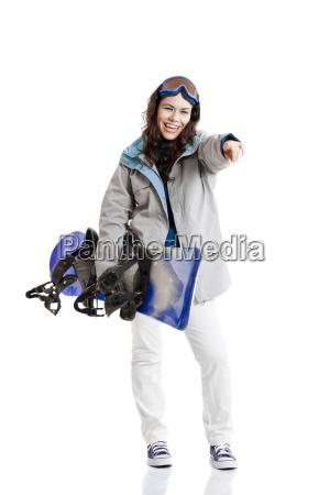 snowboard frau