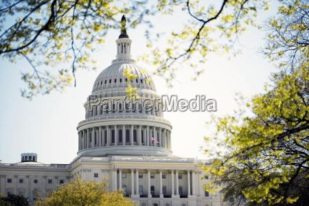 fassade des united states capitol building