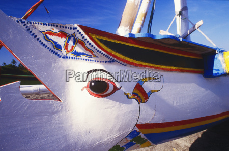 close up of a painted boat