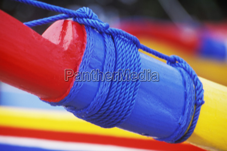 close up of a rope tied