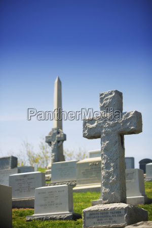 close up of graves