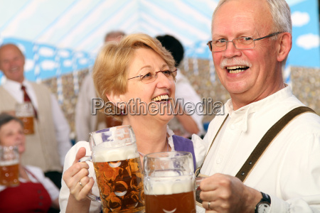 seniors in the beer tent