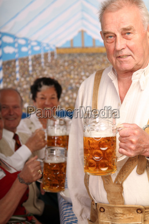 pensioners at the wiesn