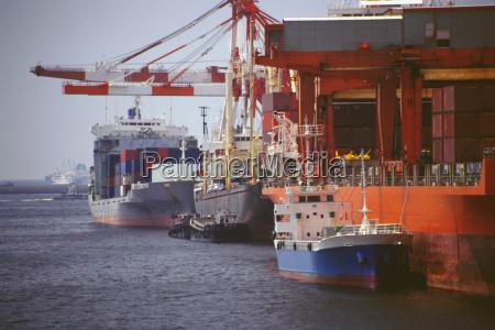 boat docked at a harbor nanko