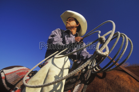 low angle view of a cowboy