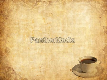 alte papier licht vorlage kaffee