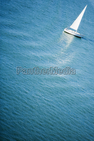 high angle view of a yacht