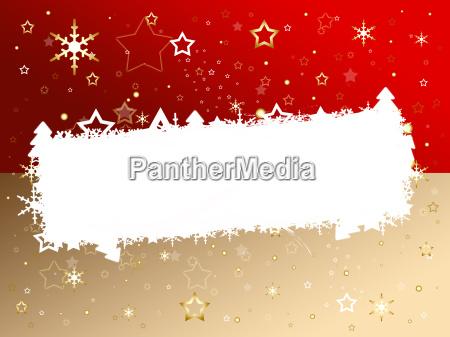 weihnachtskarte rot braun