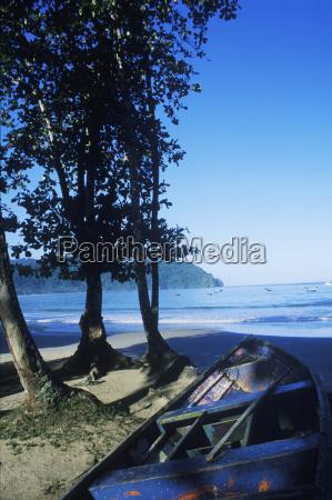 boat on the beach caribbean