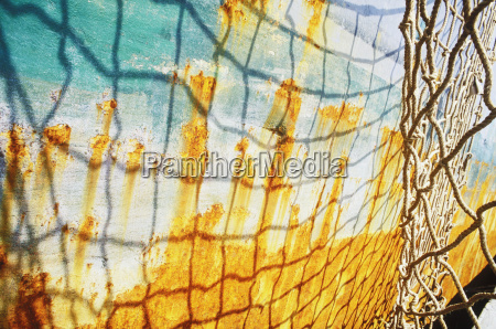 shadow of a net on a