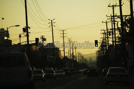 traffic on a street los angeles