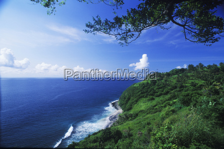hill along the sea bali indonesia