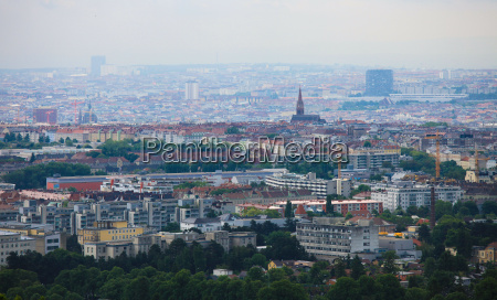 panorama on the center of vienna