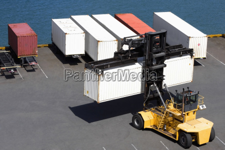 high angle view of a forklift