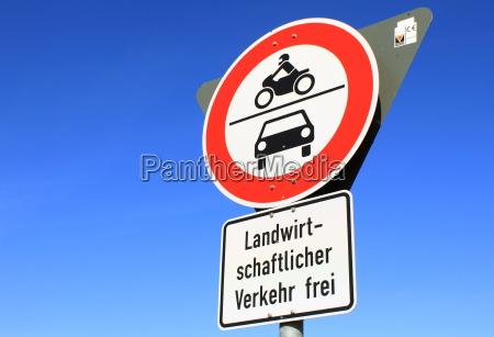 transit for motorcycle auto u prohibited