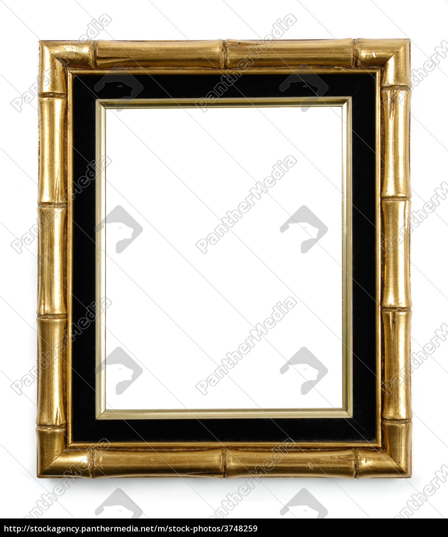 vergoldeter bambus bilderrahmen - Lizenzfreies Bild - #3748259 ...
