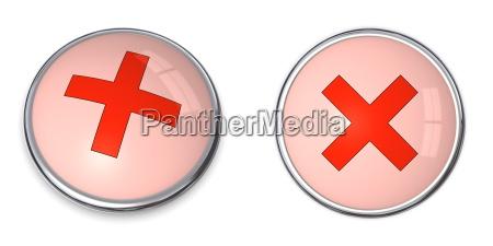 button kreuz symbol