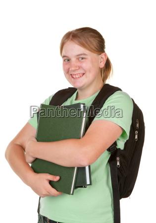 teenager going to school