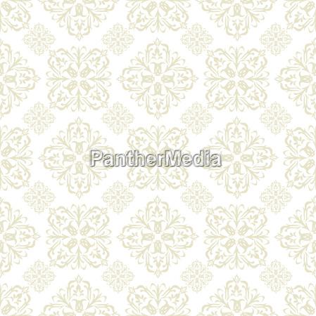 floral wallpaper beige tile