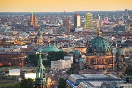 berlin skyline with potsdamer platz and