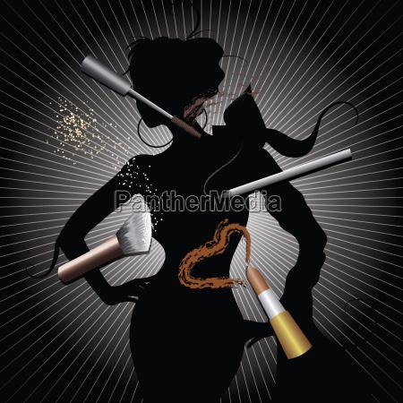 makeup make up lipstick silhouette w