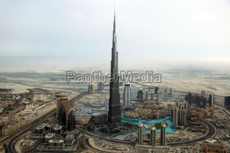 burj khalifa in dubai aus der