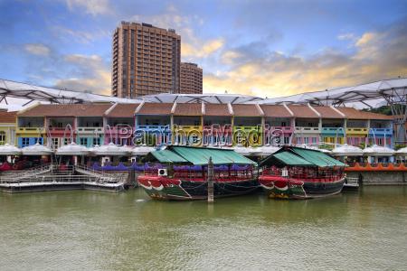 haeuser singapur baustil architektur baukunst uferstrasse