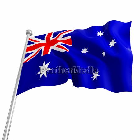 australien 3d flagge