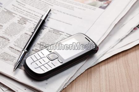 telefon telephon zeitung tageblatt buero arbeitsstelle