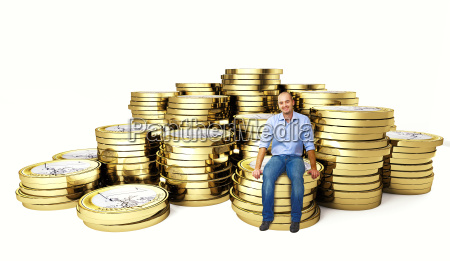 man on euro coin 3d