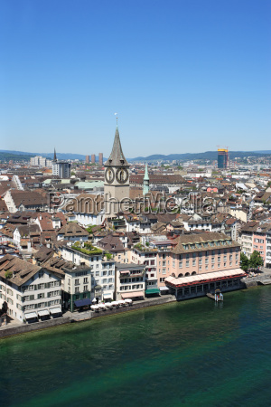 zurich and the limmat river