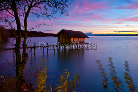 blue hour at lake ammersee
