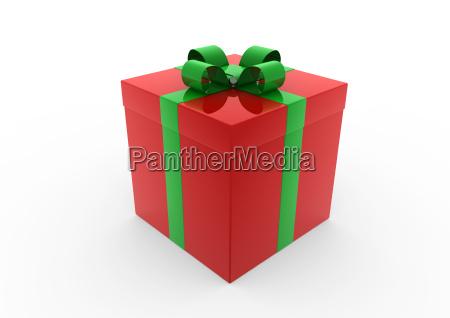 3d rot gruen weiss geschenkbox