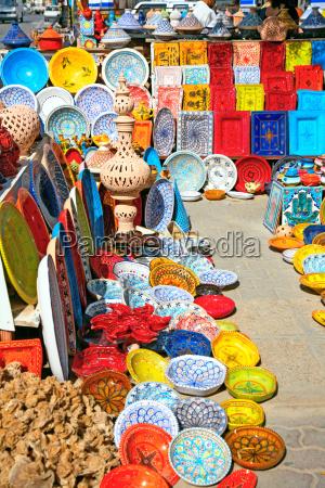 steingut auf dem markt