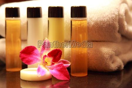blume pflanze handtuch seife kosmetisch einseifen