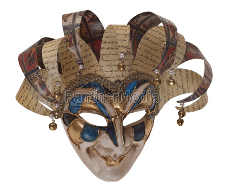 harlequin arlekino wooden mask