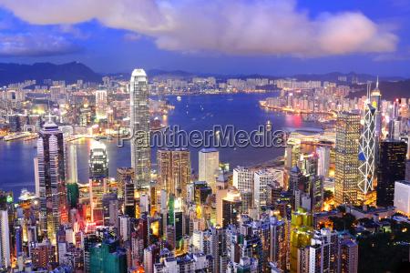 hong kong zentralen bezirk skyline und