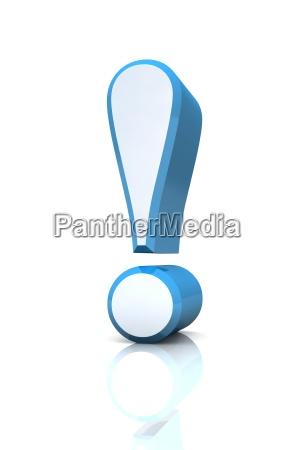 blu argento attenzione astratto punto esclamativo