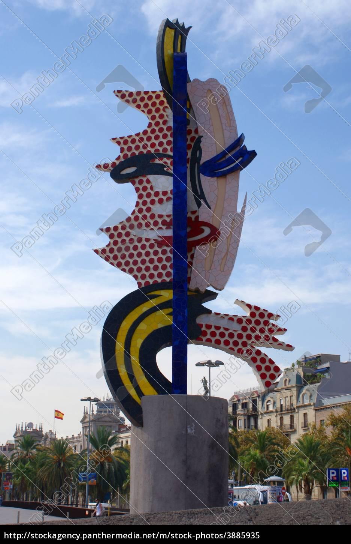 790735ccde0 Lizenzfreies Bild 3885935 - El Cap de Barcelona Roy Lichtenstein