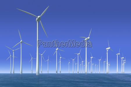 wind turbines in the water offshorepark