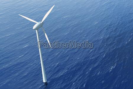 windkraftrad im wasser offshorepark