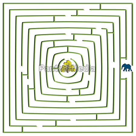 runde quadrat labyrinth