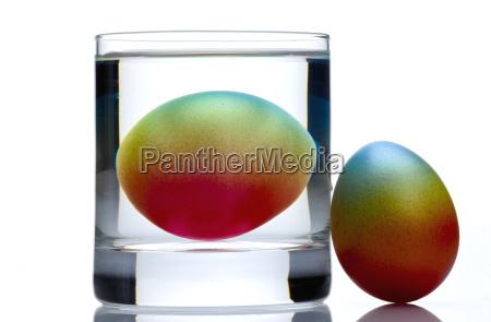 easter egg in glass