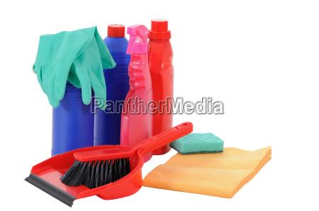 handschuh flasche buerste hygiene fetzen saubermachen