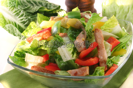 paprika peppers salad tomato herbs healthy