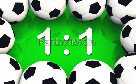 fussball spielergebnis 1 zu 1
