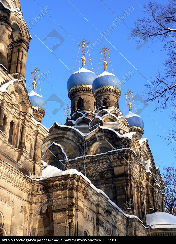 russisch-orthodoxe, kirche, i, dd, im, winter - 3911101