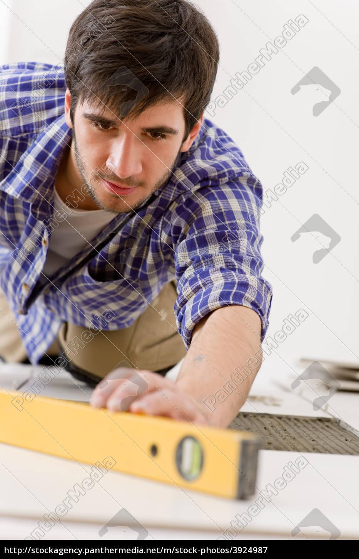 startseite, fliese, verbesserung, -, handyman, mit - 3924987