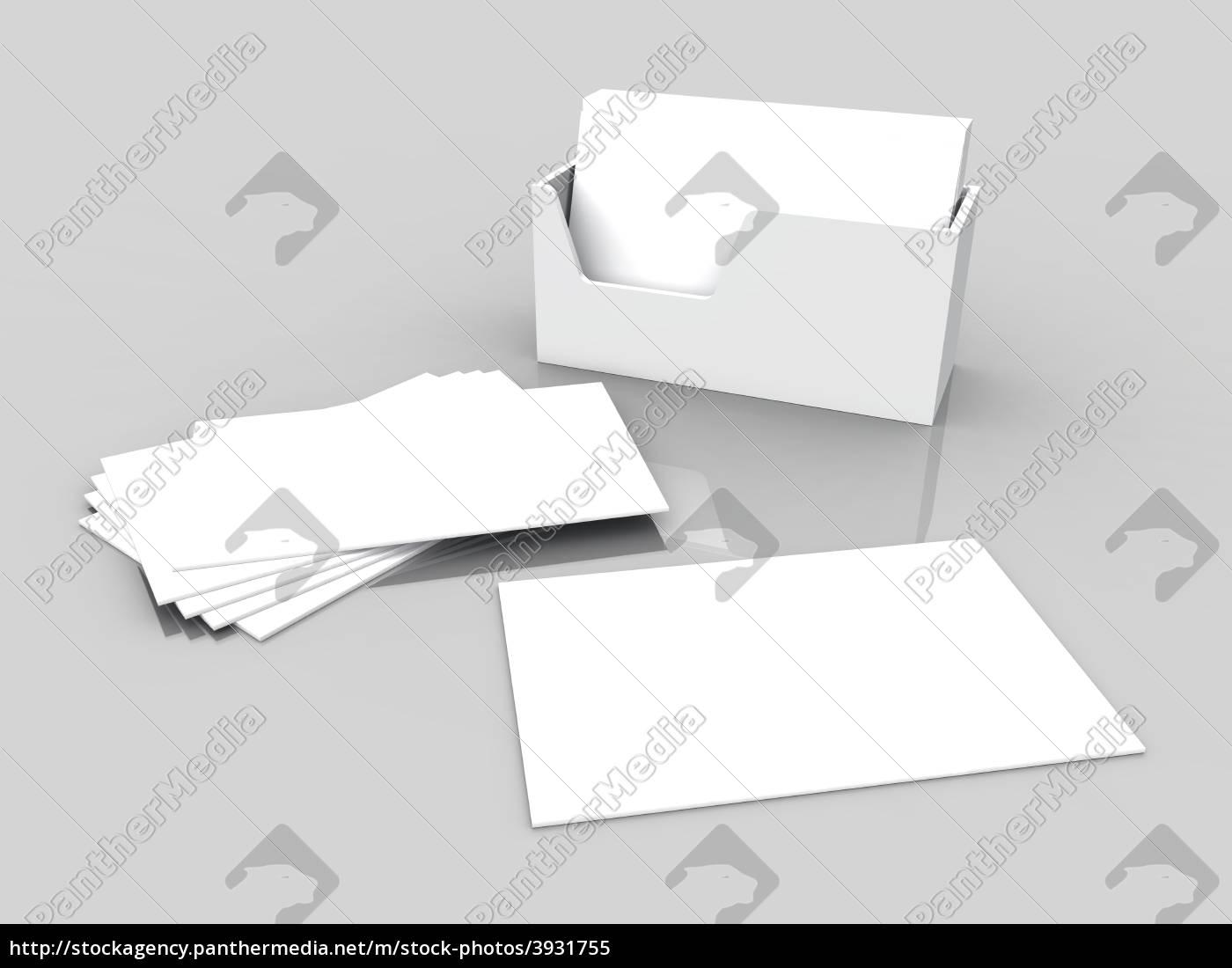 Stockfoto 3931755 Blanko Visitenkarten Weiß Auf Grau